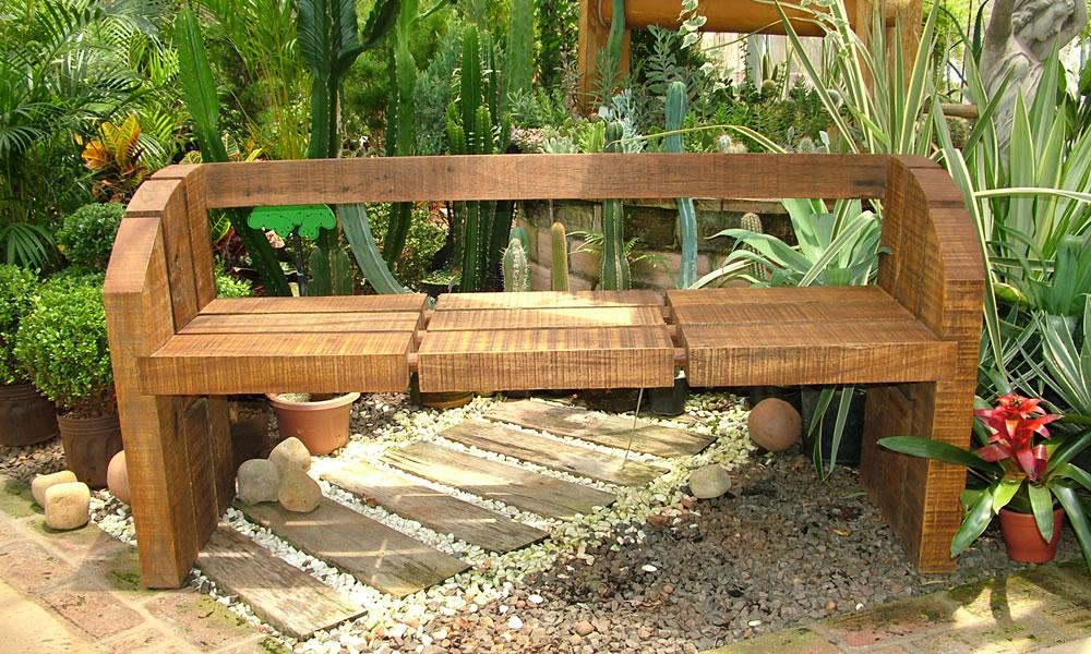 Bancos rusticos bancos e mesa em madeira rsticos bancos - Bancos de madera rusticos ...